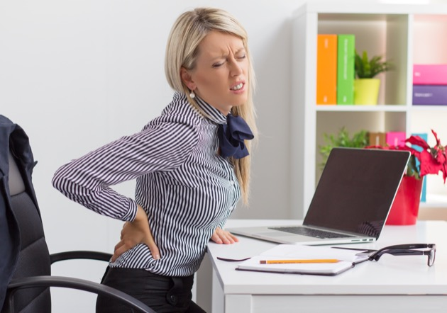 back pain is caused by sitting too much